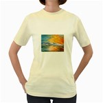 Fantasy Acid Iceberg Surprise Women s Yellow T-Shirt