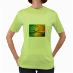Fantasy Acid Iceberg Surprise Women s Green T-Shirt