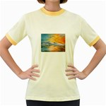 Fantasy Acid Iceberg Surprise Women s Fitted Ringer T-Shirt