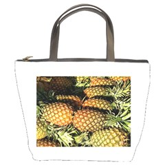 Pineapple Fruit in Pile Bucket Bag from DesignMonaco.com Front