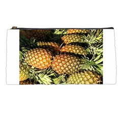 Pineapple Fruit in Pile Pencil Case from DesignMonaco.com Front