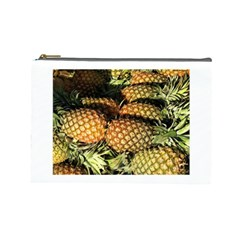 Pineapple Fruit in Pile Cosmetic Bag (Large) from DesignMonaco.com Front