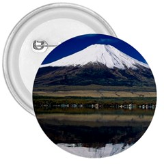 Mount Fuji in Japan 3  Button from DesignMonaco.com Front
