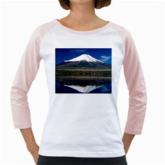 Mount Fuji in Japan Girly Raglan from DesignMonaco.com Front