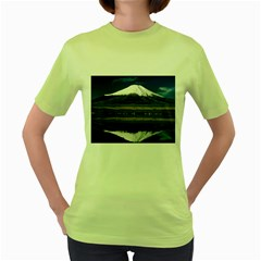 Mount Fuji in Japan Women s Green T Front