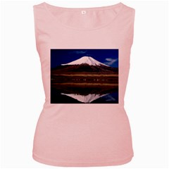 Mount Fuji in Japan Women s Pink Tank Top from DesignMonaco.com Front
