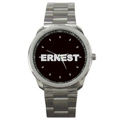Ernest Mens Sports Watch Personalized Gift Yr Photos Text Logos