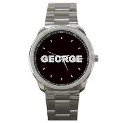 George Mens Sports Watch Personalized Gift Yr Photos Text Logos