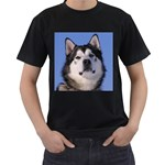 Alaskan Malamute Black T-Shirt (Two Sides)