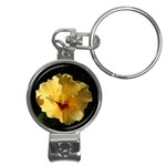 Yellow Flower Nail Clippers Key Chain