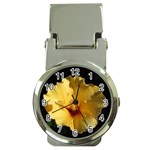 Yellow Flower Money Clip Watch