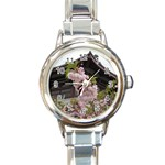 Beautiful Blossoms Round Italian Charm Watch