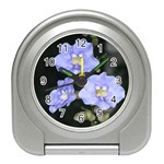 Purple Flowers Travel Alarm Clock