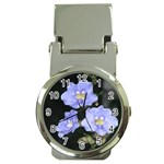 Purple Flowers Money Clip Watch