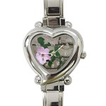 Climbing Flower Heart Italian Charm Watch