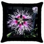 Wispy Flower Throw Pillow Case (Black)