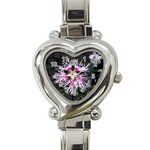 Wispy Flower Heart Italian Charm Watch