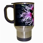 Wispy Flower Travel Mug (White)