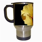 Yellow Flower Travel Mug (White)