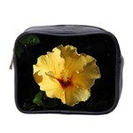 Yellow Flower Mini Toiletries Bag (Two Sides)