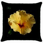 Yellow Flower Throw Pillow Case (Black)
