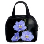 Blue Flowers Classic Handbag (Two Sides)