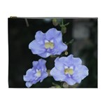 Blue Flowers Cosmetic Bag (XL)