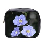 Blue Flowers Mini Toiletries Bag (Two Sides)