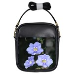 Blue Flowers Girls Sling Bag
