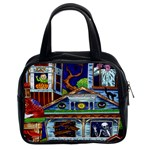 Halloween Haunted House Classic Handbag (Two Sides)