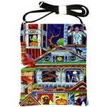 Halloween Haunted House Shoulder Sling Bag