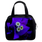 Purple Bougainvillea  Classic Handbag (Two Sides)