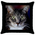 vinni Bright eyes Throw Pillow Case (Black)