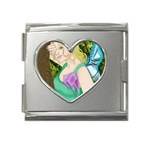 Forgotten Summer Mega Link Heart Italian Charm (18mm)