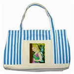Forgotten Summer Striped Blue Tote Bag
