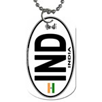 IND - India Euro Oval Dog Tag (One Side)