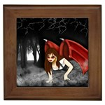 Crimson Wings Framed Tile
