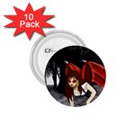 Crimson Wings 1.75  Button (10 pack)