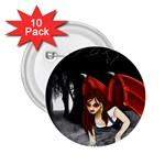 Crimson Wings 2.25  Button (10 pack)