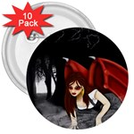 Crimson Wings 3  Button (10 pack)