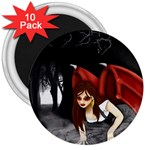 Crimson Wings 3  Magnet (10 pack)
