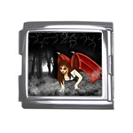 Crimson Wings Mega Link Italian Charm (18mm)