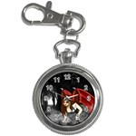 Crimson Wings Key Chain Watch