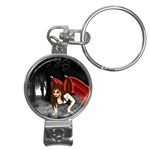 Crimson Wings Nail Clippers Key Chain