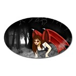 Crimson Wings Magnet (Oval)