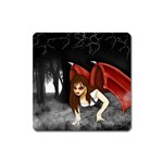 Crimson Wings Magnet (Square)