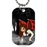 Crimson Wings Dog Tag (One Side)