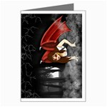 Crimson Wings Greeting Card
