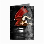Crimson Wings Mini Greeting Card