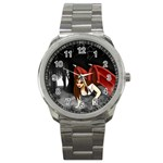 Crimson Wings Sport Metal Watch